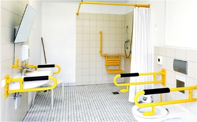Behindertengerechtes Badezimmer: Neues Duofix Wand Wc Element .
